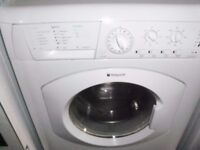 Hotpoint Washing Machine 6kg in White in good condition with all pipes can install & deliver free