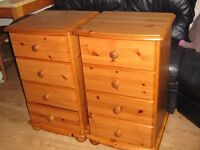 Solid wood ONE chest of 4 drawers ***one sold***