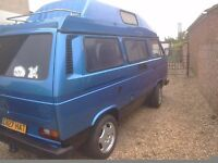 Vw t25 komet campervan,p rice reduced for quick sale,space needed,was 7995