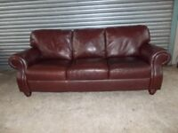 Mahogany Brown Leather 3+2-seater Suite (Sofa)