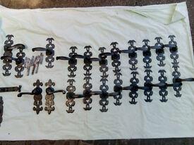 New black iron door handles