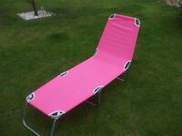 sun lounges x 2 pink.new in boxes