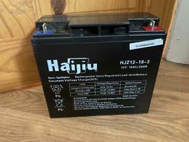 Haijiu 12v 18ah battery. Mobility / ride on mower
