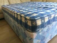 CAN DELIVER- DOUBLE DIVAN BED AND MATTRESS