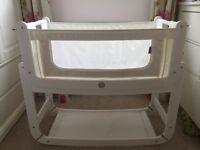 White snuzpod, mattress + extras