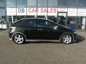 AUTOMATIC!! 2008 58 HONDA CIVIC 1.8 I-VTEC TYPE-S GT I-SHIFT 3D 139 BHP ***GUARANTEED FINANCE****