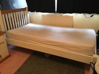 White solid wood, Single bed