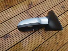 RENAULT MEGANE MK2 2002-2009 LEFT PASSENGER SIDE WING MIRROR ELECTRIC SILVER