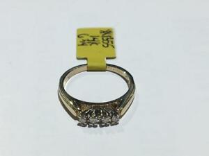 #1355 14K YELLOW GOLD VVS DIAMOND WEDDING BAND SIZE 6 3/4 ** JUST BACK FROM APPRAISAL AT $1425.00 SELLING FOR $395.00**