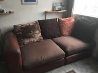 "2 large ""settee"" chairs"