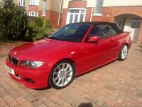 Excellent condition, low mileage, red BMW 04 plate 2.5ltr petrol convertable