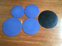 Drum Silencers/Pads - 5 Pieces