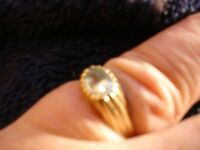 9ct Gold Topaz Ring size m