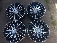 "Set of 4 20"" alloys 5 stud RRS VW T5 T6"