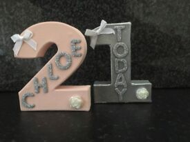 Personalised birthday numbers..any colour..any name