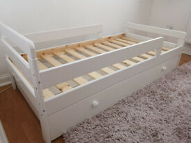 Toddler's bed frame with storage + free Mamas & Papas mattress
