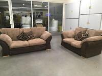 """Brown ribbed sofa set""""FREE LOCAL DELIVERY """""""