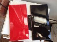High gloss red & black rectangle kitchen/bathroom tiles