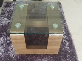 Table - Glass topped