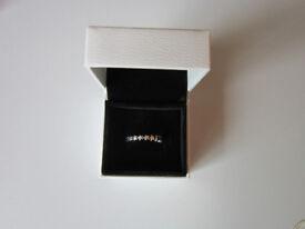 Genuine Pandora Multi-Star Ring - size 54 - very good condition