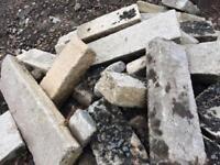 Reclaimed granite steps x3