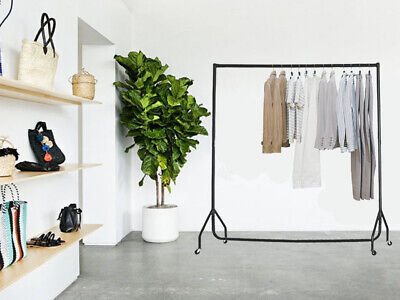 4 Ft Heavy Duty Clothes Rail Rack Shop Display Rail Hanging Stand Rack On Wheels