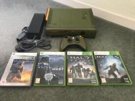 Xbox 360 halo console and halo games. Limited edition