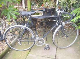 VINTAGE RALEIGH GENTS CYCLE, WITH CAMPAG GEARS, LEVER AND CHANGER.
