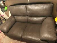 Leather type 2 seater sofa