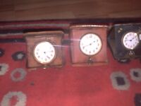 Antique Rare Spaulding & Co. 8 Day Clock In Leather Case