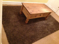 """As new Dunelm Mill large deep pile rug 92""""by62"""" first too see will buy unmarked well made"""