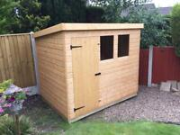 7x5 PENT ROOF GARDEN SHEDS (HIGH QUALITY) £389.00 ANY SIZE (FREE DELIVERY AND INSTALLATION)