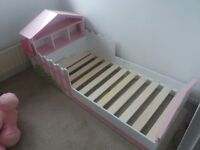 KidKraft childs bed,Pink and white