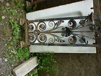 2 vintage decorative ironwork stairs balustrade