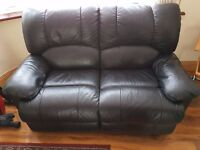 Black Recliner sofa - 2 Seater - Used - For quick sale