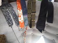 Sequin belt gunmetal metallic