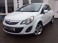 2012 62 Vauxhall/Opel Corsa 1.4 SXI~ICE WHITE~FSH~2 KEYS~