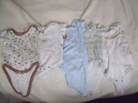 Vests and 2 sleepsuits - 0 to 3 months