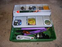 Cantelever Fishing Box & Tackle.