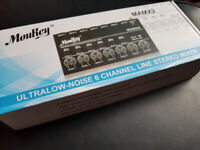 ultra low noise 6 channel Stereo mixer Moukey