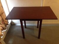 Dining Table with 2 Folding Drop Leafs Extending Solid Wood Sturdy Table Seats 4-6 People VGC