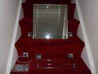 Adjustable Bathroom Mirror with Shelf & matching toilet roll holdar