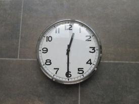 Crome Kitchen Clock