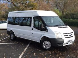 FORD TRANSIT 2.4 TDCi 15 SEAT MINIBUS LOW MILES + NO VAT + IMMACULATE