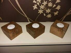 Reclaimed timber tealights