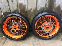 Ktm supermoto wheels exc sxf 125 250 300 350 400 450 500
