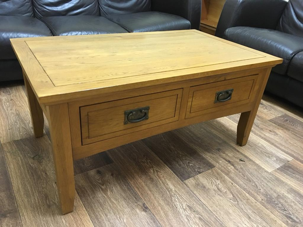 Solid oak coffee table (free delivery)