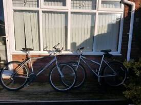 His & Hers Triumph Mountain Bikes