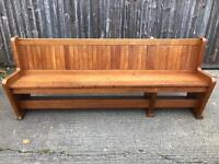 Church pew or bench