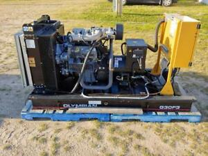 30 KW CAT Nat Gas Generator, 600/347 Volts, 3 Phase, Skid Mount with approx. 400 hours
